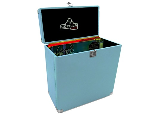 "Gorilla LP-45 Retro 12"" Vinyl Record Storage Case (Sonic Blue)"