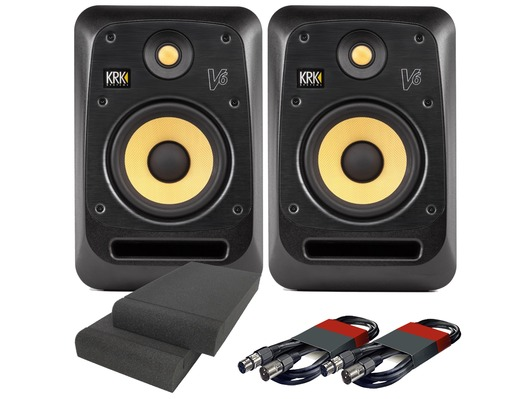 2x KRK V6S4 with Pads & Cables