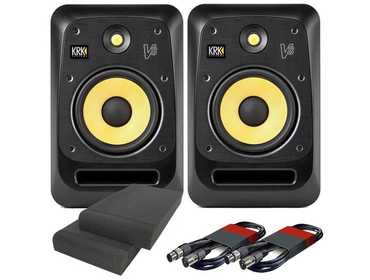 KRK V8S4 (x2) with Pads & Cables