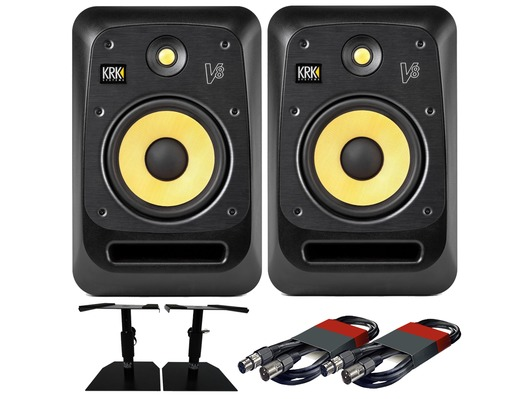 KRK V8S4 (x2) with GSM-50 Stands & Cables
