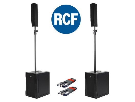 RCF Evox 8 (Pair) Speaker System with Free XLR Cables