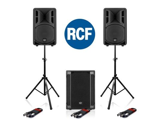 2x RCF Art 310-A MK4 Speakers & RCF SUB 702AS II