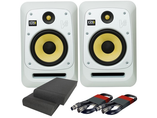 KRK V8S4 White Noise (x2) with Pads & Cables