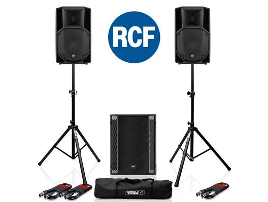 RCF Art 712-A MK4 PA Speaker (x2) + RCF Sub 705-AS II (x1)