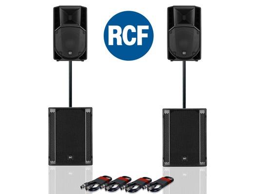 RCF Art 712-A MK4 PA Speaker (x2) & RCF Sub 705-AS II (x2)