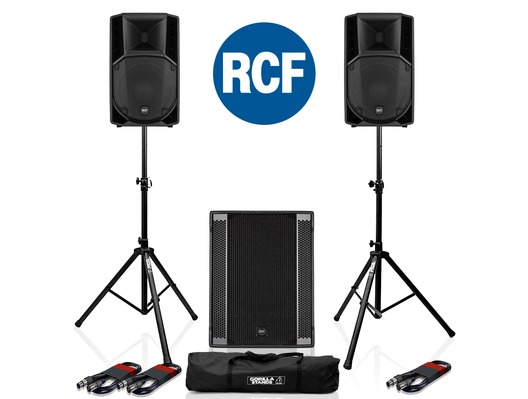 RCF Art 712-A MK4 PA Speaker (x2) & RCF Sub 708-AS II Sub (x1)