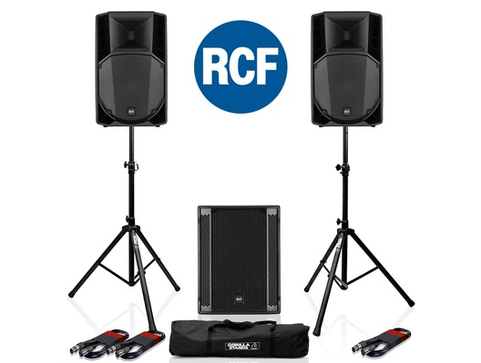 RCF Art 715-A MK4 PA Speaker (x2) & RCF Sub 705-AS II (x1)