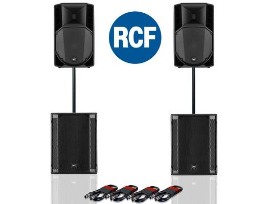 RCF Art 715-A MK4 PA Speaker (x2) & RCF Sub 705-AS II (x2)