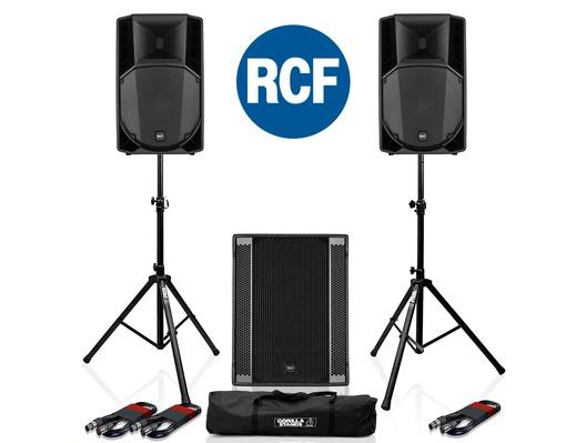 RCF Art 715-A MK4 PA Speaker (x2) & RCF Sub 708-AS II