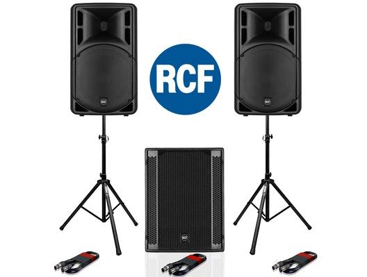 RCF Art 315-A MK4 Speaker (Pair) + RCF SUB 705-AS II Subwoofer