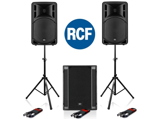 RCF Art 312-A MK4 Speaker (Pair) + RCF SUB 705-AS II Sub