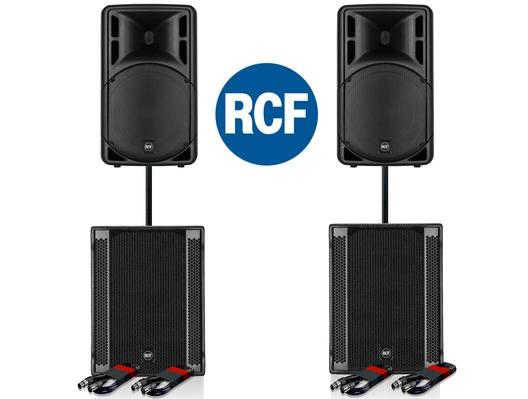 RCF Art 315-A MK4 Speaker (x2) & RCF SUB 705-AS II (x2)