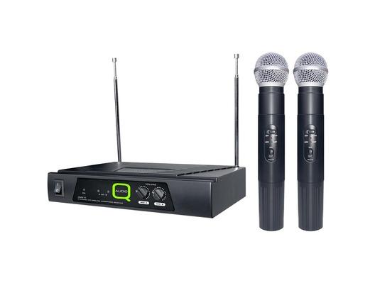 Q-Audio QWM 11 Twin Channel Dual Wireless Mic System