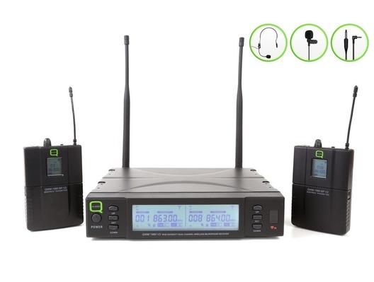 Q-Audio QWM 1960 V2 BP Wireless Mic System