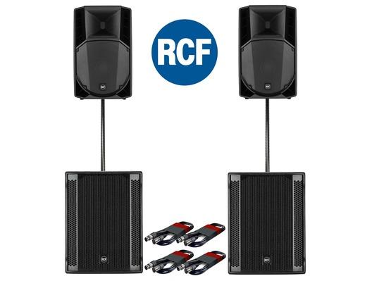 RCF Art 735-A MK4 Speaker (x2) & RCF Sub 705-AS II (x2)