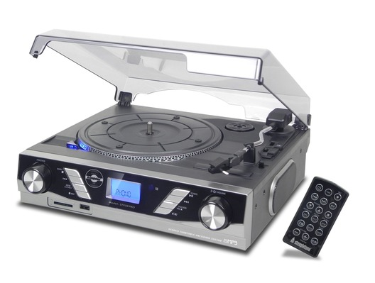 Steepletone ST930 Pro USB Record Player (Silver)