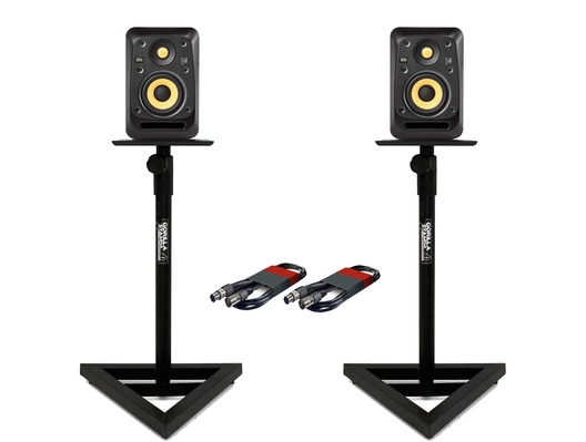 KRK V6S4 (x2) with GSM-100 Stands & Cables
