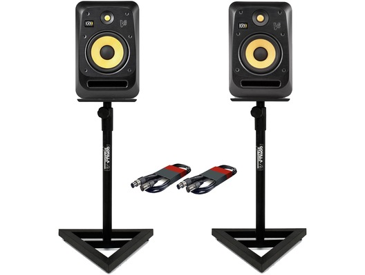 KRK V8S4 (x2) with GSM-100 Stands & Cables
