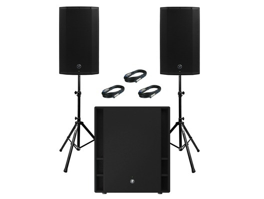 2x Mackie Thump 12A V4 Speakers & Mackie Thump 18S