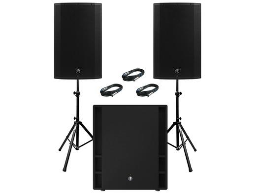 2x Mackie Thump 15A V4 Speakers & Mackie Thump 18S
