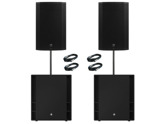 Mackie 2x Thump 15A V4 Speakers & 2x Thump 18S Subs Package