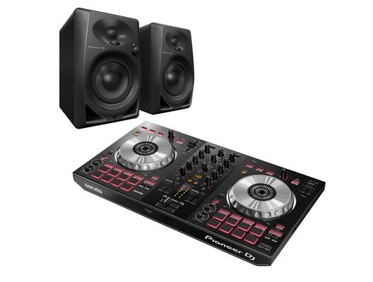 Pioneer DJ DDJ-SB3 & Pioneer DJ DM-40 Monitors