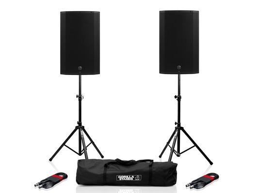 Mackie Thump 15BST (Pair) with Stands and Cables