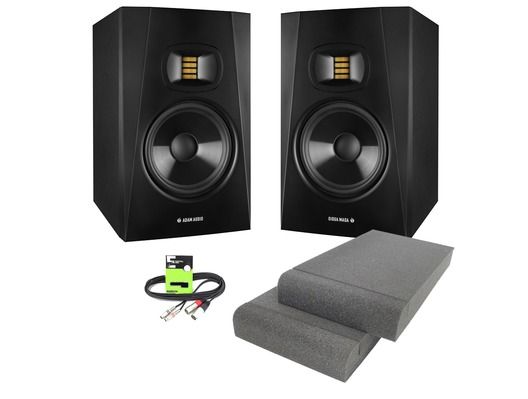 Adam Audio T7V with Isolation Pads & Cable Package