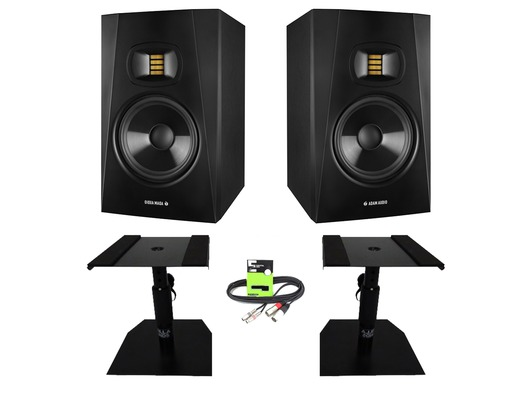 Adam Audio T7V with GSM-50 Stands & Cable Package