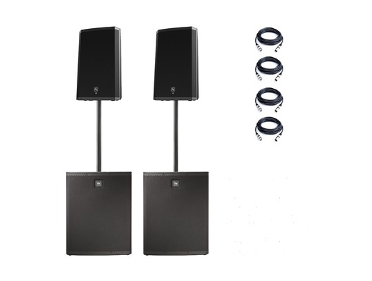 Electro-Voice ZLX15P Speakers & ELX118P Subs PA Package