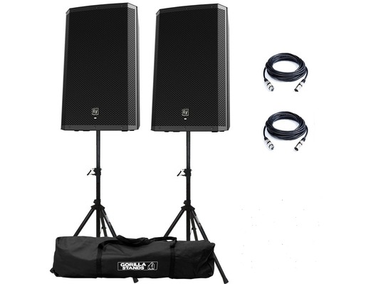 Electro-Voice ZLX15P Speakers & Stands Package