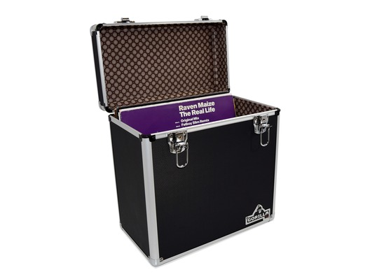 "Gorilla LP50 12"" Vinyl Storage Box Case (Black)"