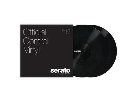 "12"" Serato Standard Colors (Pair) Black"