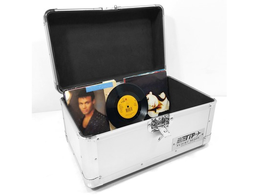 "Total Impact TIP 200 7"" Vinyl Record Carry Case (Silver)"