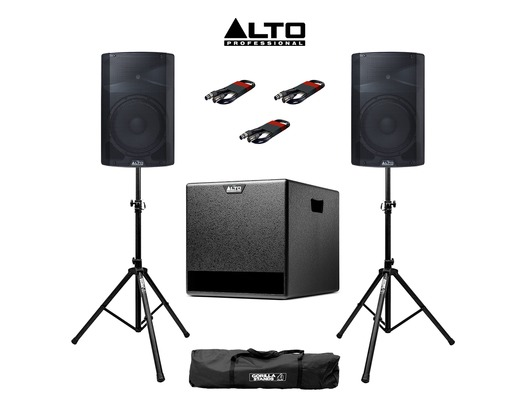 Alto TX212 (Pair) & TX212S plus Stands & Cables