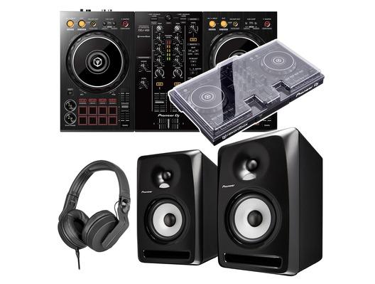 Pioneer Dj DDJ-400 + S-DJ50X + Decksaver & Headphones