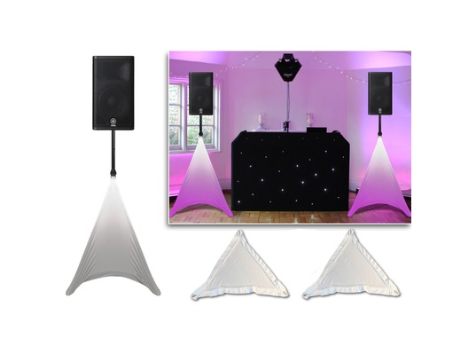 PAIR Gorilla PA Speaker Stand Scrim Lycra Covers Lighting Screens