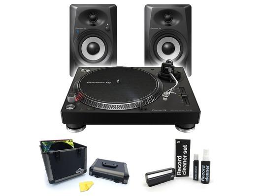 Pioneer DJ PLX-500 Deluxe Vinyl Package with DM-40BT Bluetooth Speakers