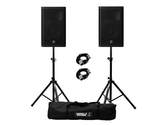 Yamaha DXR10 MkII (Pair) with Stands and XLR Cables