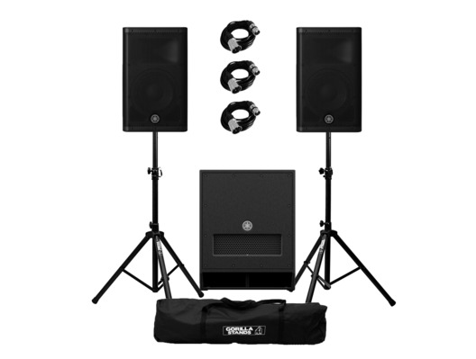 Yamaha DXR10 (Pair) with DXS12 mk 2 with Stands and Cables