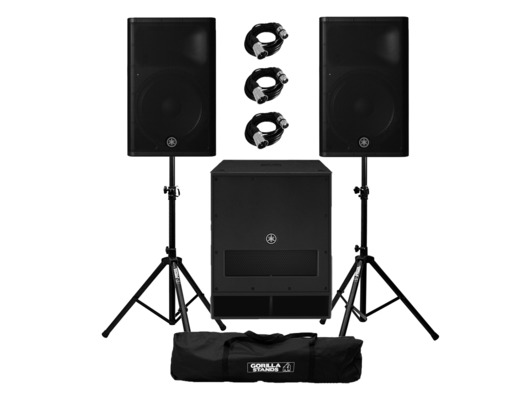 Yamaha DXR15 mkII (x2) & DXS18 plus Stands and Cables