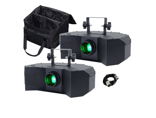 Equinox Helix (Black) x2 with Twin Carry Bag & Cable
