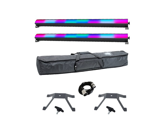 Equinox SpectraPix Batten x2 with Carry Bag, Brackets & Cable