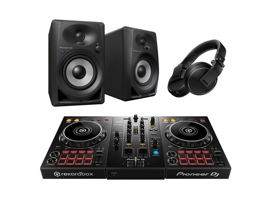 Pioneer DJ DDJ-400 with DM40BT Speakers plus HDJ-X5 Headphones Bundle