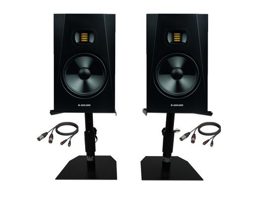 "Adam Audio T8V 8"" Studio Monitors with Desktop Stands & Leads"