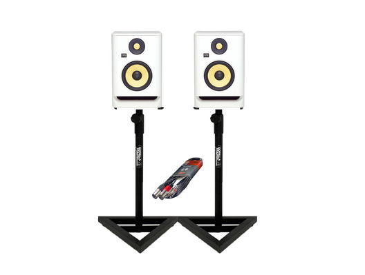 KRK RP5 G4 WN + Gorilla Studio Stands + Cable