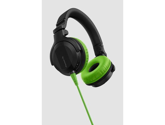 Pioneer HDJ-CUE1 Headphones With Green Accessory Pack
