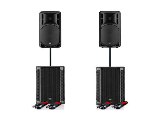 RCF Art 312-A MK4 Speaker (x2) & RCF SUB 705-AS II (x2)