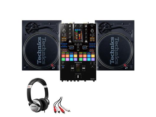 Technics SL-1210 MK7 (x2) + Pioneer DJM-S11 w/ Headphones + Cable