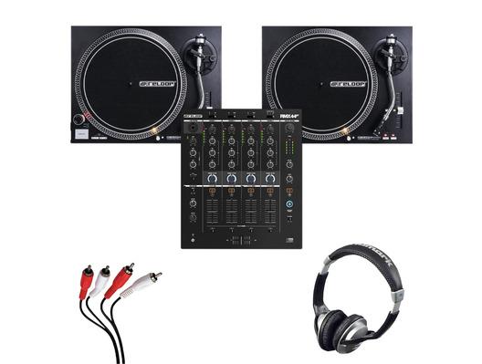 Reloop RMX-44 BT + RP-4000 MK2 (Pair) w/ Headphones + Cable